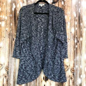 Dressbarn Blue 3/4 Sleeve Open Front Cardigan 2X
